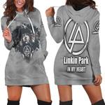 Linkin Park Legend Members In My Heart Rock band Grey 3D Designed Allover Gift For Linkin Park Fans Hoodie Dress
