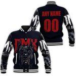 DMX American rapper Pit Bull Black 3D Designed Allover Custom Gift For DMX Fans Baseball Jacket