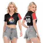 Linkin Park Rock band Rainbow Logo Black Red 3D Designed Allover Custom Gift For Linkin Park Fans V-neck Lapel Blouse