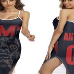 DMX American rapper Pit Bull Black 3D Designed Allover Custom Gift For DMX Fans Back Cross Dress