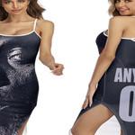 DMX American rapper Avatar Black 3D Designed Allover Custom Gift For DMX Fans Back Cross Dress