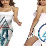 Linkin Park Angels Rock band Logo White 3D Designed Allover Gift For Linkin Park Fans Back Cross Dress