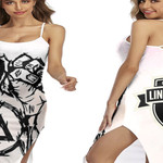 Linkin Park Rock band Special Logo White 3D Designed Allover Gift For Linkin Park Fans Back Cross Dress