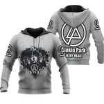 Linkin Park Legend Members In My Heart Rock band Grey 3D Designed Allover Gift For Linkin Park Fans Hoodie