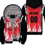 DMX Dark Man X American rapper Fire Red Black 3D Designed Allover Custom Gift For DMX Fans Fleece Hoodie