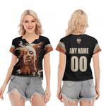 DMX American rapper Vapor Black 3D Designed Allover Custom Gift For DMX Fans V-neck Short Sleeve Blouse