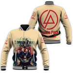 Linkin Park In My Heart All Legend Members Rock band Logo Cream 3D Designed Allover Gift For Linkin Park Fans Baseball Jacket