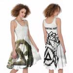 Linkin Park Legend Rock band Logo Black White 3D Designed Allover Gift For Linkin Park Fans A-line Dress