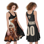 DMX American rapper Vapor Black 3D Designed Allover Custom Gift For DMX Fans A-line Dress