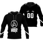 Linkin Park Rock band Logo Black Gradient 3D Designed Allover Custom Gift For Linkin Park Fans Hoodie