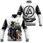 Linkin Park Legend Members Art Rock band Logo White 3D Designed Allover Gift For Linkin Park Fans Baseball Jacket