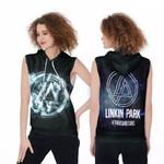 Linkin Park A Thousand Suns Rock band Logo Black 3D Designed Allover Gift For Linkin Park Fans Sleeveless Hoodie