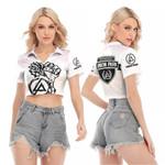 Linkin Park Rock band Special Logo White 3D Designed Allover Gift For Linkin Park Fans V-neck Lapel Blouse