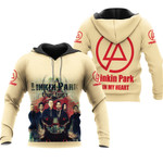 Linkin Park In My Heart All Legend Members Rock band Logo Cream 3D Designed Allover Gift For Linkin Park Fans Hoodie