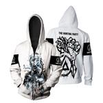Linkin Park Castle Of Glass Chester Bennington Rock band Logo White 3D Designed Allover Gift For Linkin Park Fans Zip Hoodie