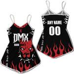 DMX American rapper Boxer Black 3D Designed Allover Custom Gift For DMX Fans Romper Jumpsuit