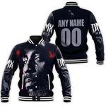 DMX American rapper Avatar Black 3D Designed Allover Custom Gift For DMX Fans Baseball Jacket
