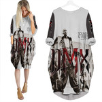 DMX Sounds Vibes Radio American rapper Black White 3D Designed Allover Custom Gift For DMX Fans Batwing Pocket Dress