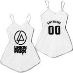 Linkin Park Rock band Logo White Gradient 3D Designed Allover Custom Gift For Linkin Park Fans Romper Jumpsuit