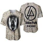 Linkin Park In My Heart The Best Rock band Logo 3D Designed Allover Gift For Linkin Park Fans Baseball Jersey