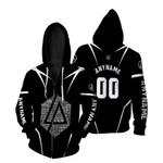 Linkin Park Famous Songs Rock band Logo Black 3D Designed Allover Custom Gift For Linkin Park Fans Zip Hoodie