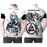 Linkin Park Castle Of Glass Chester Bennington Rock band Logo White 3D Designed Allover Gift For Linkin Park Fans Polo shirt
