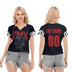 DMX American rapper Pit Bull Black 3D Designed Allover Custom Gift For DMX Fans V-neck Short Sleeve Blouse