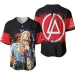 Linkin Park Chester Bennington Art Colorful Rock band Logo Black Red 3D Designed Allover Gift For Linkin Park Fans Baseball Jersey