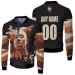 DMX American rapper Vapor Black 3D Designed Allover Custom Gift For DMX Fans Fleece Bomber Jacket