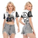 Linkin Park Legend Members Art Rock band Logo White 3D Designed Allover Gift For Linkin Park Fans V-neck Lapel Blouse