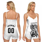 Linkin Park Rock band Special Logo Black White 3D Designed Allover Custom Gift For Linkin Park Fans V-neck Romper Jumpsuit