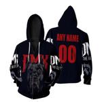DMX American rapper Pit Bull Black 3D Designed Allover Custom Gift For DMX Fans Zip Hoodie
