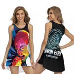 Linkin Park A Thousand Suns Chester Bennington Art Rock band Logo 3D Designed Allover Gift For Linkin Park Fans Sleeveless Dress