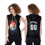 Linkin Park Rock band Rainbow Logo Black Red 3D Designed Allover Custom Gift For Linkin Park Fans Sleeveless Hoodie