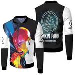 Linkin Park A Thousand Suns Chester Bennington Art Rock band Logo 3D Designed Allover Gift For Linkin Park Fans Fleece Bomber Jacket