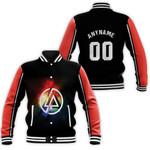Linkin Park Rock band Rainbow Logo Black Red 3D Designed Allover Custom Gift For Linkin Park Fans Baseball Jacket