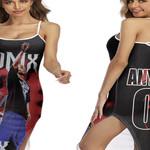 DMX Fire On Performance American rapper Black 3D Designed Allover Custom Gift For DMX Fans Back Cross Dress
