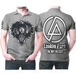 Linkin Park Legend Members In My Heart Rock band Grey 3D Designed Allover Gift For Linkin Park Fans Polo shirt