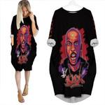 DMX King American rapper Black 3D Designed Allover Custom Gift For DMX Fans Batwing Pocket Dress
