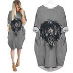 Linkin Park Legend Members In My Heart Rock band Grey 3D Designed Allover Gift For Linkin Park Fans Batwing Pocket Dress