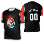 Linkin Park Rock band Rainbow Logo Black Red 3D Designed Allover Custom Gift For Linkin Park Fans 3D T-shirt