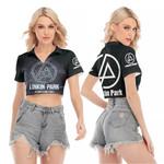 Linkin Park A Thousand Suns In My Heart Rock band Logo Black 3D Designed Allover Gift For Linkin Park Fans V-neck Lapel Blouse