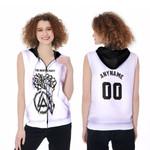 Linkin Park Rock band Special Logo Black White 3D Designed Allover Custom Gift For Linkin Park Fans Zip Sleeveless Hoodie