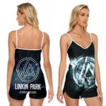 Linkin Park A Thousand Suns Rock band Logo Black 3D Designed Allover Gift For Linkin Park Fans V-neck Romper Jumpsuit
