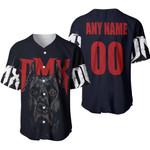 DMX American rapper Pit Bull Black 3D Designed Allover Custom Gift For DMX Fans Baseball Jersey
