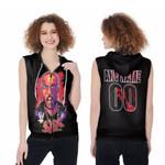DMX King American rapper Black 3D Designed Allover Custom Gift For DMX Fans Zip Sleeveless Hoodie