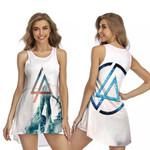 Linkin Park Angels Rock band Logo White 3D Designed Allover Gift For Linkin Park Fans Sleeveless Dress
