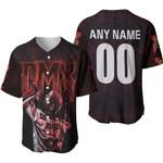 DMX Legend On Stage American rapper Black 3D Designed Allover Custom Gift For DMX Fans Baseball Jersey