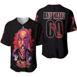 DMX King American rapper Black 3D Designed Allover Custom Gift For DMX Fans Baseball Jersey