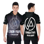 Linkin Park A Thousand Suns In My Heart Rock band Logo Black 3D Designed Allover Gift For Linkin Park Fans Short Sleeve Hoodie